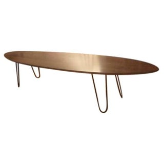 Surfboard Coffee Table with Hairpin Legs