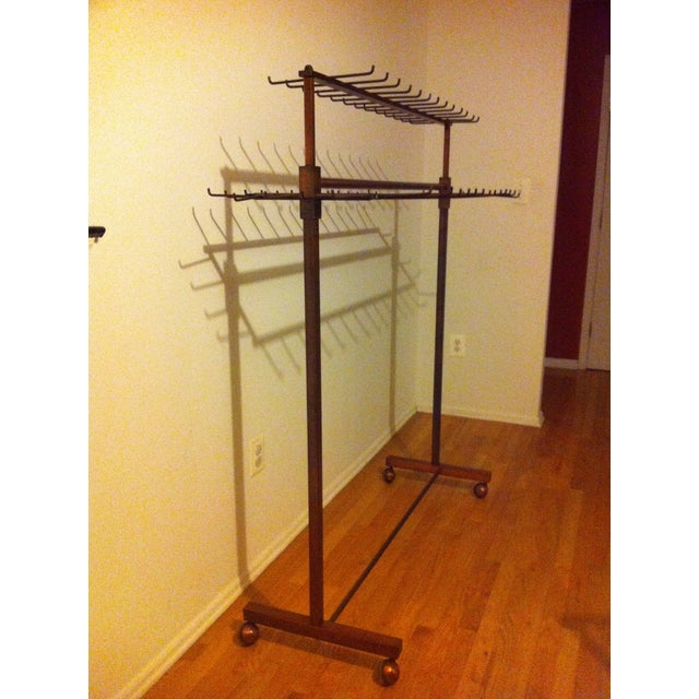 Industrial Two Tier Copper Rack Stand - Image 6 of 10
