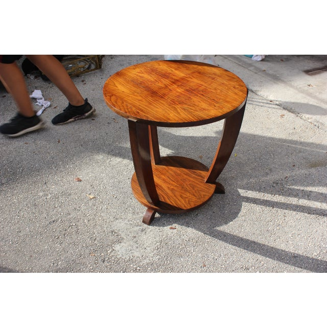 Beautiful French Art Deco Coffee Table or Side Table Exotic Walnut, circa 1940s - Image 4 of 10
