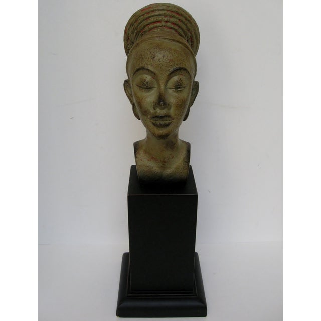 Image of African Queen Mounted Ceramic Head