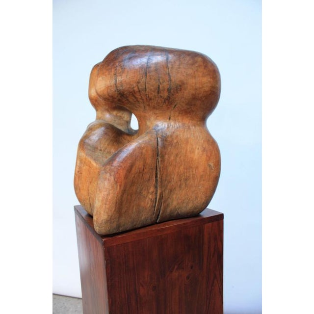 Image of Free-Form Burl Wood 'Head' Sculpture
