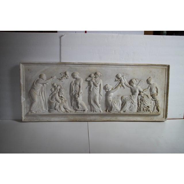 Neoclassical Plaster Relief Cherub Wall Art - Image 2 of 11