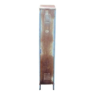 Vintage Industrial Tall Metal Locker