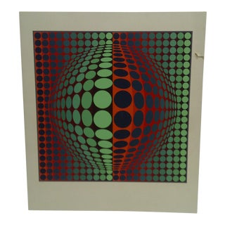 Limited Edition Signed Print Expanding Sphere Victor Vasarely