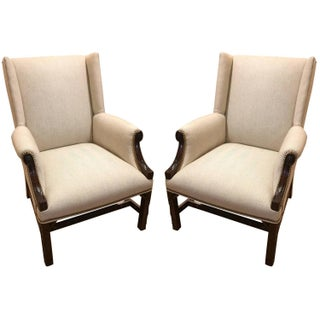 Antique 19th-Century English Armchairs - A Pair