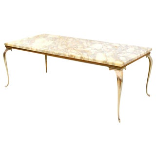 Mid-Century Brass and Marble Table