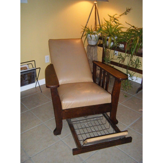 Antique 1911 Mission Oak Reclining Morris Chair - Image 3 of 5