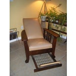 Image of Antique 1911 Mission Oak Reclining Morris Chair