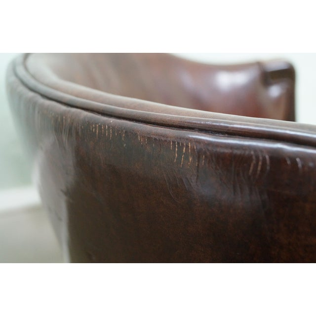 Widdicomb Small Barrel Back Leather Club Chair - Image 10 of 10