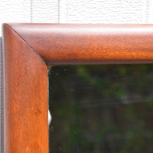 Mid-Century Mahogany Mirror - Image 3 of 5