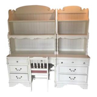 Lexington Industries Bookcases, Matching Desk & Chair - Set of 4