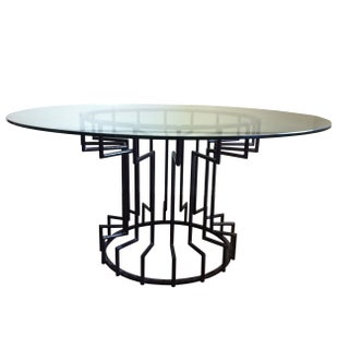 Gear Steel & Glass Dining Table