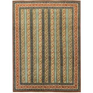 "Modern Hand Woven Indian Wool Rug - 8'11"" X 11'10"""