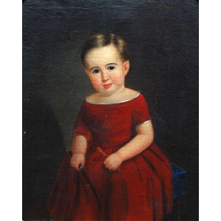 Portrait of a Boy in a Red Dress