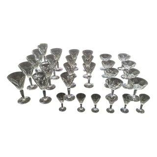 "Waterford Crystal ""Sheila"" Stemware - 30 Pieces"