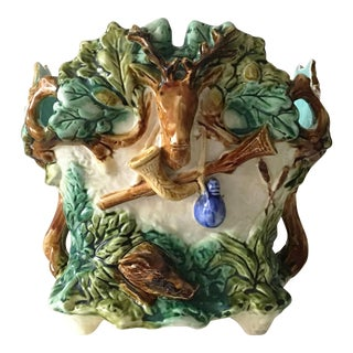 19th Majolica Hunt Jardiniere Onnaing