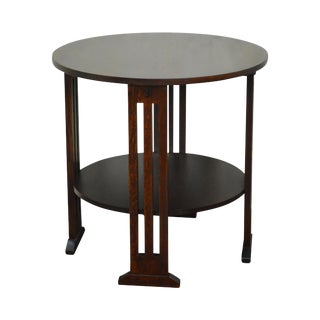Stickley Mission Oak Collection Round Occasional Table
