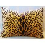Image of Scalamandre Cut-Velvet Leopardo Pillow