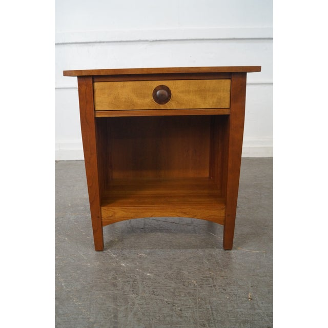 Image of Stickley Mission Style Solid Cherry Nightstand