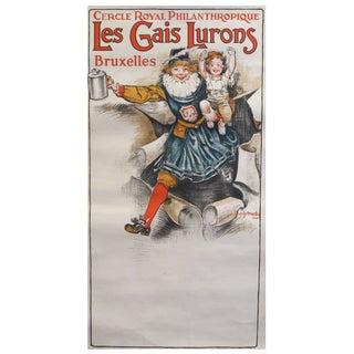 1920s Belgian Poster, Les Gaies Lurons