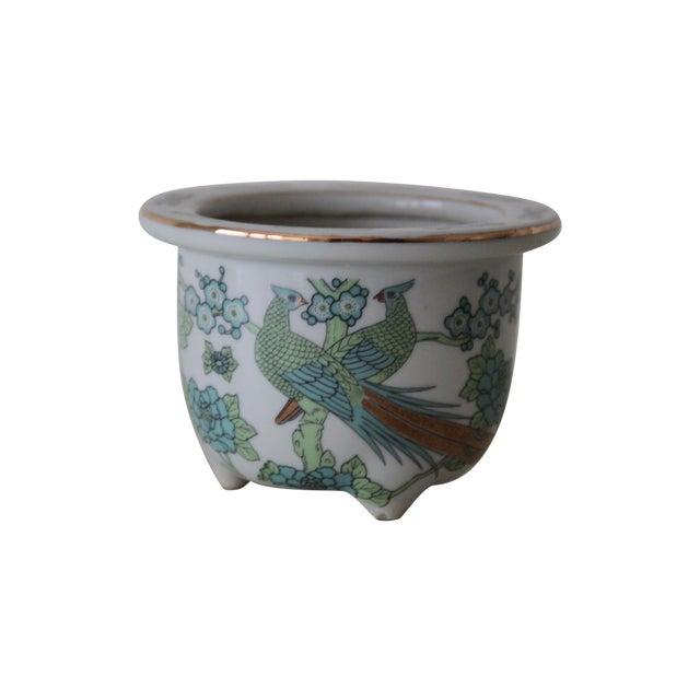 Imari Style Green Bird Of Paradise Planter - Image 1 of 3