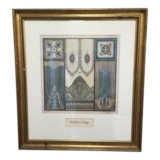 Framed Biedermeier Design Print