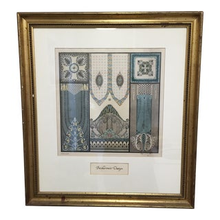 Framed Biedermeier Design Print