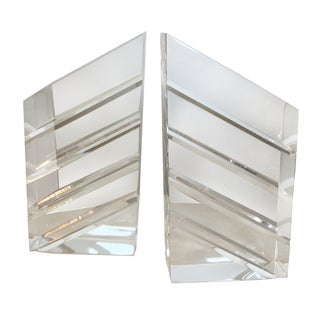 Lucite Book Ends - A Pair