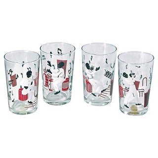 Vintage Jazz Musician Shot Glasses - Set of 4