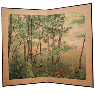 Taisho floral screen