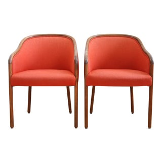 Vintage Mid-Century Modern Bent Wood Chairs - A Pair