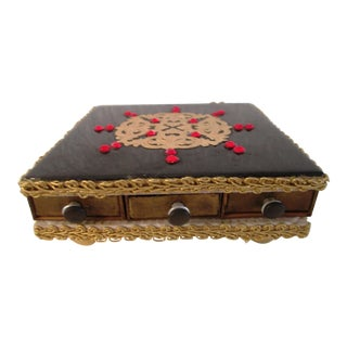 Vintage Jeweled Matchstick Box with Striker