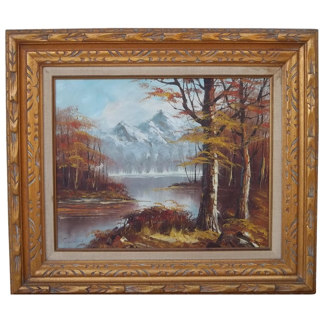 """Autumn Landscape"" Oil on Canvas - Image 1 of 3"