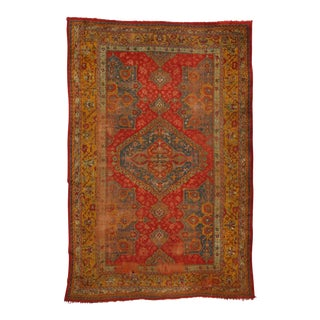 Late 19th Century Antique Turkish Oushak Rug, 12'6 x 18'7