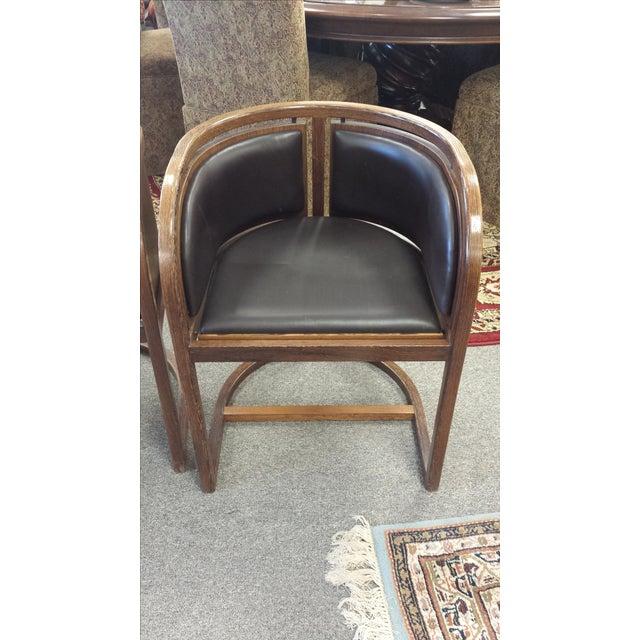 Lignum Vitae & Leather Chair - Image 2 of 5