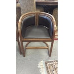 Image of Lignum Vitae & Leather Chair