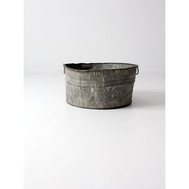 Vintage Galvanized Tub Basin - Image 5 of 8