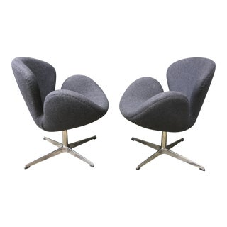 Grey Swan Chrome Chairs - A Pair