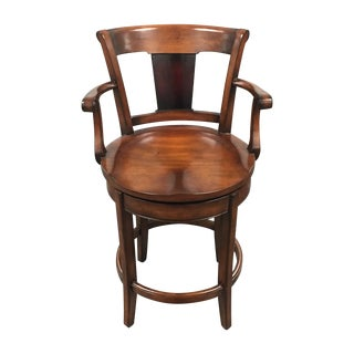 Swivel Cherry Wood Counter Stool