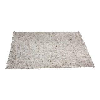 Mid-Century Woven Wool Rug - 6″ × 9″