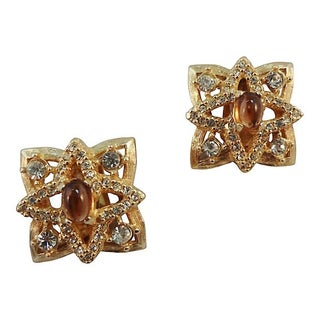 Hattie Carnegie Cabochon Couture Earrings