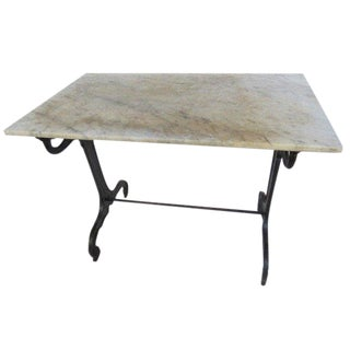 1900s Marble-Top Bistro Table