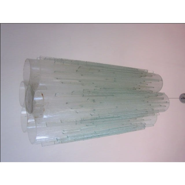 Rare Murano Glass Columnar Chandelier by Venini - Image 4 of 7