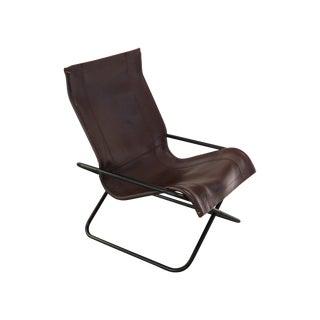 Vintage MCM Uchida Leather Sling Chair