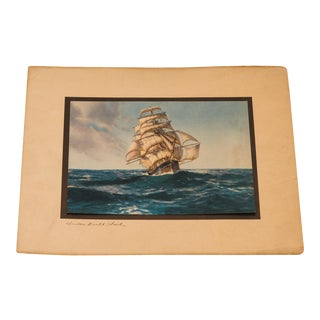 Ship At Sea Print