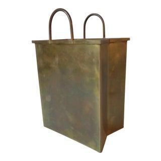 Italian Brass Shopping Bag