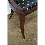 Image of Antique Mahogany Spoon Back Regency Klismos Chairs