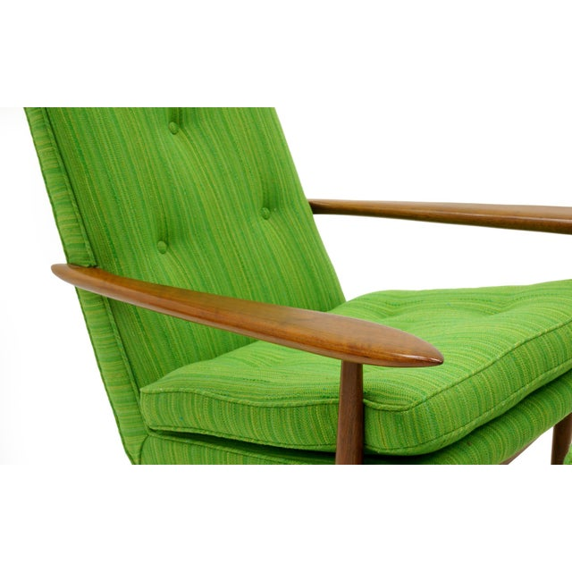Rare George Nakashima for Widdicomb High Back Lounge Chair and Ottoman - Image 7 of 11