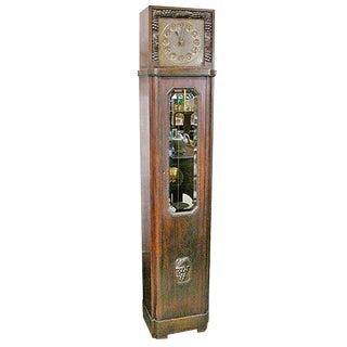 Long Case Art Deco Clock