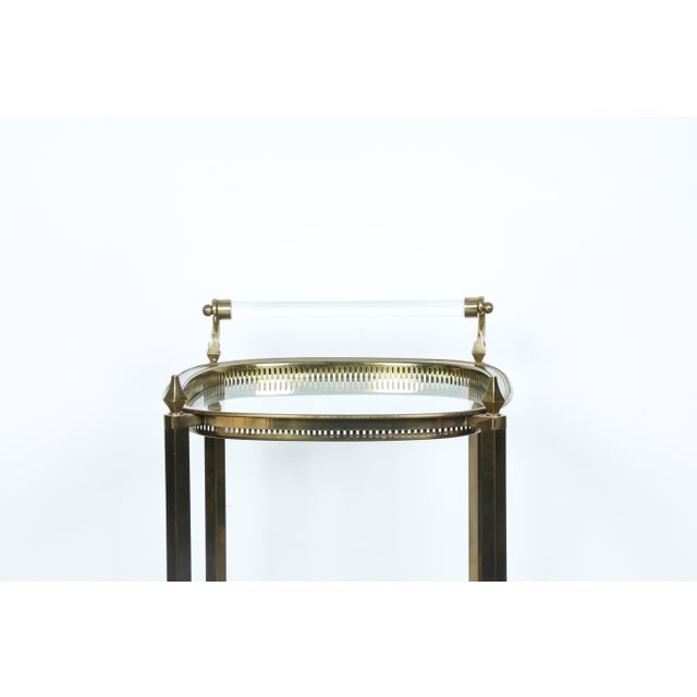 Mid-Century Gold-Tone Bar Cart - Image 9 of 11